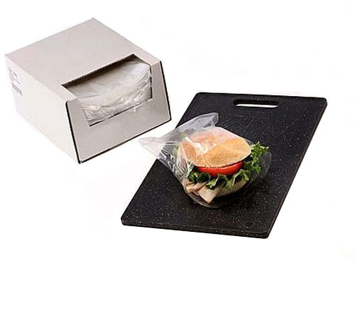 Clear Flip Top Sandwich Bags in Dispenser Box 0.75 mil